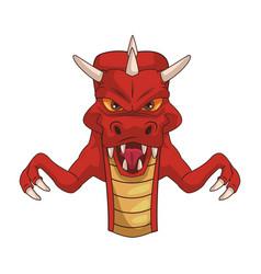 Dragon videogame cartoon vector