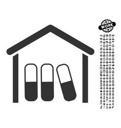 Drugs garage icon with men bonus vector