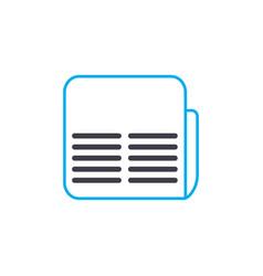 Financial brief thin line stroke icon vector