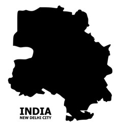 Flat map new delhi city with name vector