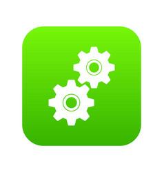 gear icon digital green vector image