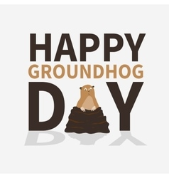 Happy groundhog daylogoiconcute frightened vector