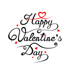 happy valentines day romantic greeting card vector image