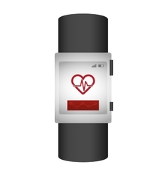 Heartrate wrist monitor icon image vector