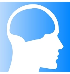 Human head with brain template vector