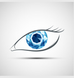 Icon human eye vector