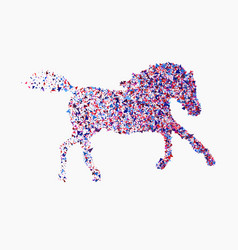 Icon of running horse icon of running horse vector