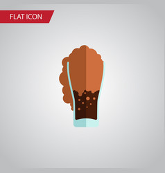 isolated carbonated flat icon soda element vector image
