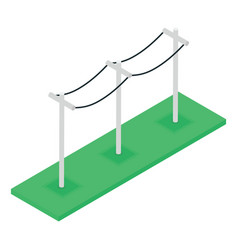 isometric entrance barricade vector image