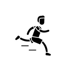marathon black icon sign on isolated vector image