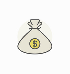 Money bag colorful icon vector