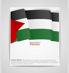 National flag brochure of palestine vector
