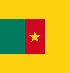 National flag republic cameroon vector
