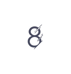 number 8 template design vector image