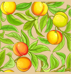 Peach branches pattern on color background vector
