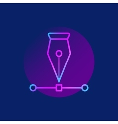 Pen tool purple icon vector image