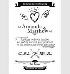 Procurement invitation to the wedding scheme vector