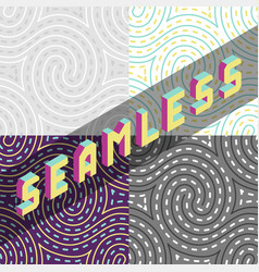 psychedelic hypnotic swirl maze seamless vector image