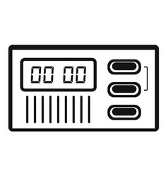 retro digital clock icon simple style vector image