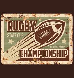 rugchampionship rusty plate american football vector image