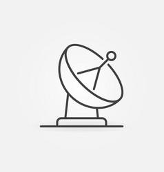 Satellite dish antenna concept icon vector