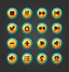 Set of button for game design-1 vector