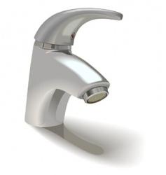 Single hole basin mixer vector