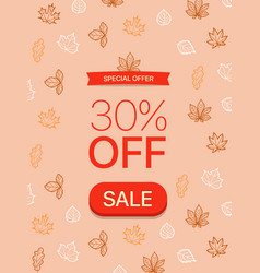 special offer concept 30 percent off vector image