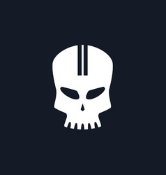 Sport moto speed skull vector
