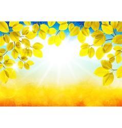 Sunny autumn landscape vector image