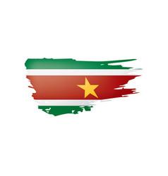 Suriname flag on a white vector