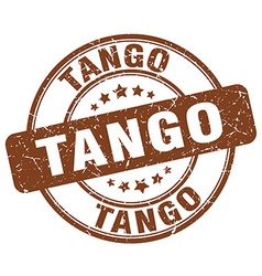 Tango brown grunge round vintage rubber stamp vector
