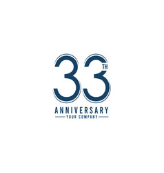 Th year anniversary template design vector