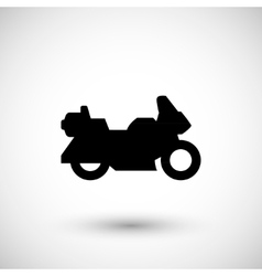Touring motorcycle icon vector