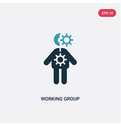 two color working group icon from people concept vector image