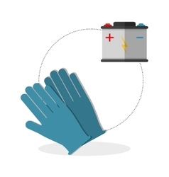 Under construction design supplies icon glove vector image
