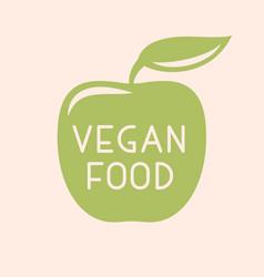 Vegan or vegetarian badge vector