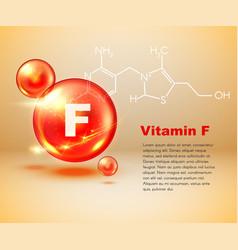 Vitamin f capsule healthy food chemical formula vector