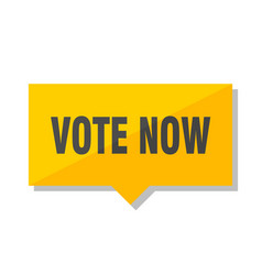 Vote now price tag vector