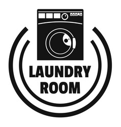 Wash machine laundry room logo simple style vector