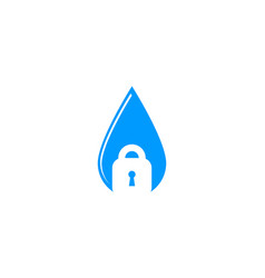 Water security lock icon logo design element vector