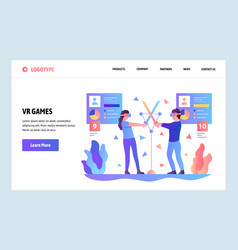 web site gradient design template virtual vector image
