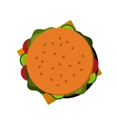 whole hamburger icon vector image