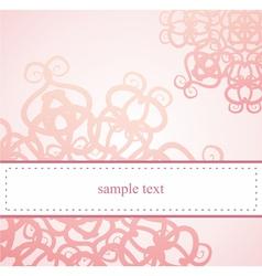Classic elegant floral card or ornament invitation vector image vector image