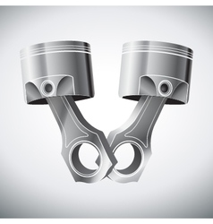 engine pistons vector image