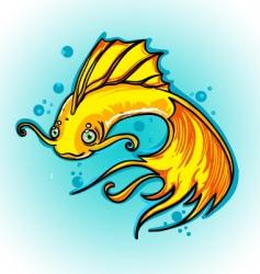 golden fish vector image