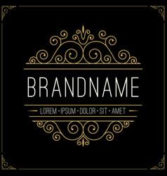 luxury logo in vintage style line art monogram vector image vector image