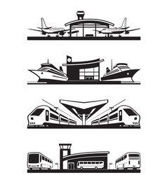 passenger transport terminals vector image