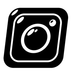 photo icon simple black style vector image