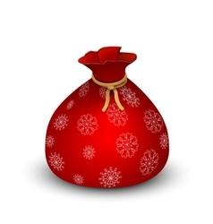 Santa Sack on white background vector image